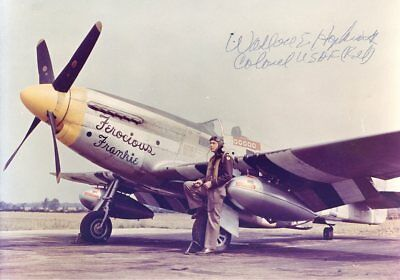 WALLACE-HOPKINS-WWII-Ace-Color-Photo-With-his